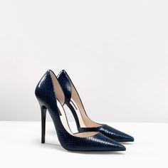 PALA TALÓN PIEL PRINT de Zara leather pump, print leather, print de, snakeskin shoe, women shoe