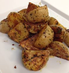 Spicy, Zesty Roasted Potatoes via @Jackie Ourman