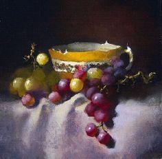 Golden Treasure by Christine Hooker Oil ~ 6 x 6