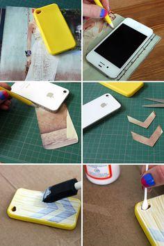 DIY chevron iPhone case