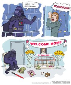 Poor Darth Vader. :(
