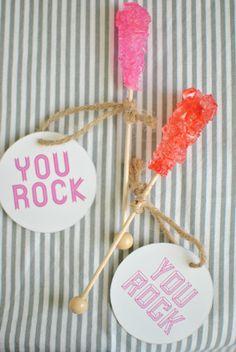 """you rock"" valentine's day idea"