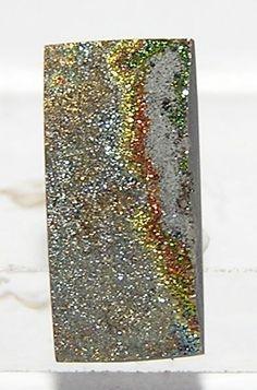 Iridescent Marcasite Stone Mini Cabochon 4 carat by FenderMinerals,