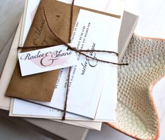 Peach Feather Vintage Rustic & Elegant Wedding by BeaconLane