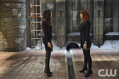 Nikita -- Invisible Hand -Pictured (L-R): Maggie Q as Nikita and Melinda Clarke as Amanda -- Credit: Sven Frenzel/The CW --  2013 The CW Network. All Rights Reserved
