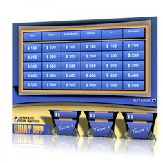 """What Is... for interactive whiteboards creates customizable """"Jeopardy"""" style games for your classroom!"""