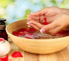 Strengthen your cuticles and promote nail growth by dipping your nails in almond oil