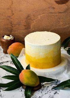 Ombre mango madness cake mouss cake, moonblush baker, mad cake, mango cake