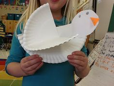"""For MLK day!  Students made doves then wrote how they'd bring PEACE to the world.  LOVE this """"new"""" take on MLK. students, bird crafts, baptisms, peace, papers, martin luther, birds, paper plates, luther king"""