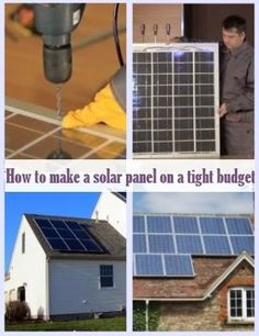How To Make A Solar Panel On A Tight Budget - If you are interested in learning how to make a solar panel, then you are probably interested in either saving money over the long term, being more eco-friendly, or both. Either way, those are good enough reasons for wanting to know how to build a solar panel.