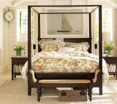 canopi, potterybarn, bench, potteri barn, canopy beds, master bedrooms, barns, four poster beds, pottery barn