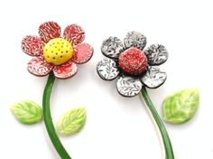 Ceramic mosaic tiles to mosaic/ Flowers and stems by mosaicmonkey, $12.00