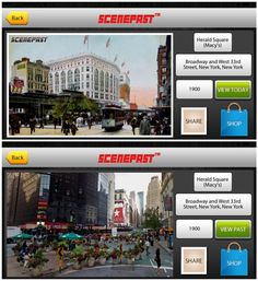"""Coolest thing ever! App lets you compare """"then and now"""" photos of landmarks when you're on the road - or even famous movie locations."""