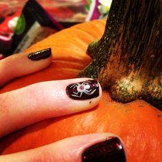 Happy Halloween!! #nailart #spiders