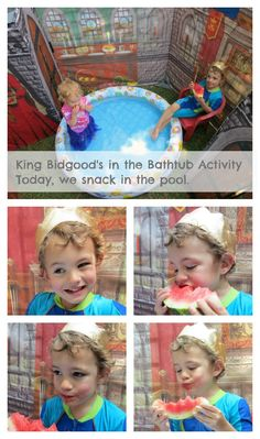 King Bidgood's in the Bathtub activity for small children by Don and Audrey Woods, plus a Audrey Woods link-up!