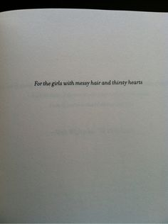 For the girls...