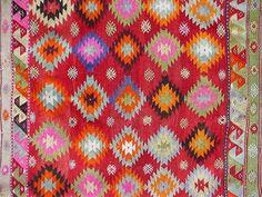 VINTAGE Turkish Kilim Rug Carpet, Handwoven Kelim Rug,Antique Kelim Rug,Decorative Kilim, Natural Wool  62,2 X 75,5 via Etsy