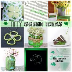 FIFTY Fantastic Green Ideas at ALittleClaireification.com #crafts #recipes #DIY