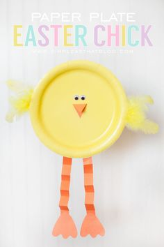 Simple Easter Craft for Kids // Paper Plate Easter Chick