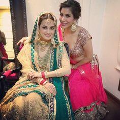 OMG: Bride Dia Mirza in Wedding Joda by html www.RituKumar.com/home/ in Mughal style, w/ intricate zardozi work & Bride 2B? @Sophie_Choudry in http://www.ManishMalhotra.in/landing/ Oct 18, 14