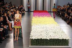 Mary Katranzou flower catwalk...