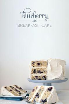 Blueberry Breakfast Cake by Tessa Huff  |  TheCakeBlog.com