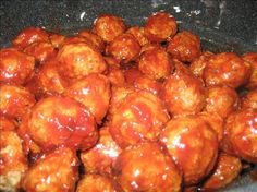 Grape Jelly and Chili Sauce Meatballs or  Lil Smokies