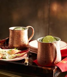 Moscow Mule in our Copper Mugs