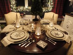 Holiday Dining Room - Ralph Lauren & Goodwill :-)