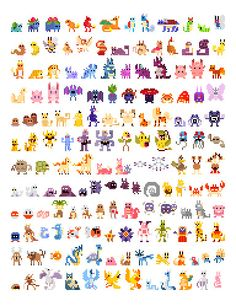 Pixelated Pokemon - First Generation