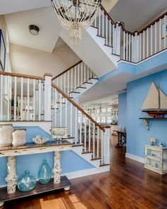 Omigosh! I would be in heaven if I had this house. Beautiful! House of Turquoise: Serenity Designing