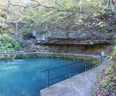 Maramec Springs Park and trout hatchery.    St.James, Mo.