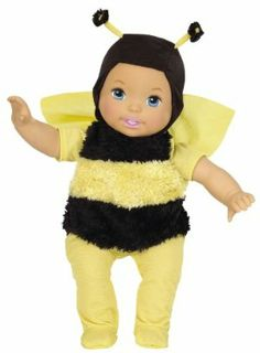 Little Mommy Dress Up Cuties Bumblebee Doll by Mattel. $14.42. Little Mommy Dress Up Cuties dolls are the perfect babies every girl will love. These little cuties are ready for some fun in the sun. Doll gives girls nurturing, role-play and make-believe fun. For the next generation of Little Mommy. Featured in their favorite costumes with darling soft details. From the Manufacturer                Little Mommy Sweet As Me Garden Party Bumblebee Doll: These adorable toddlers are al...