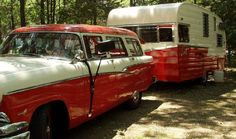 Travel trailer and matching rig...Alan, buy these for me!