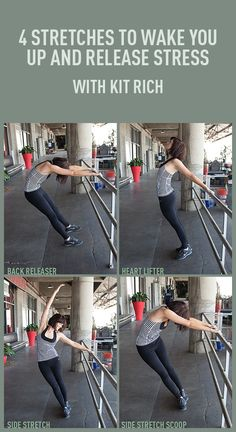 Don't they look like Flash Dance moves? LOVE IT! 4 Stretches To Wake You Up and Release Stress