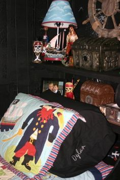 Pirate bed...handmade by my husband.