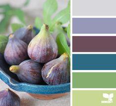 dining rooms, living rooms, color palettes, design seeds, color schemes, blue green, periwinkle blue, fig hue, colour palettes