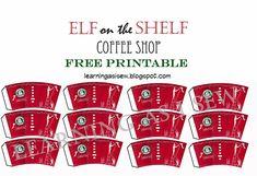 Elf on the Shelf: Coffee Cups - Free Printables #elfontheshelf #Christmas #FreePrintable ideas