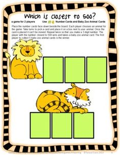 Place Value Games for 3 Digit Numbers by Games 4 Learning - This is a set of 15 printable Place Value Games for 3 Digit Numbers. $