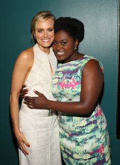 Taylor Schilling and Danielle Brooks at Netflix Presents 'Orange is the New Black' screening in LA. #OITNB