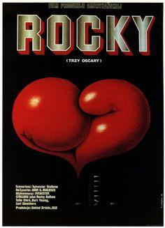 Polish poster for John G. Alvidsen's, Sylvester Stallone starring film, Rocky.