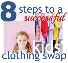 8 Steps To A Successful Kids' Clothing Swap!  Save money swapping clothes!