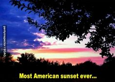 Most American sunset ever
