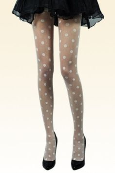 White Dots Lace Tights [AT0053] - $9.90 : - StyleSays