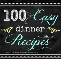 Never never never run out of dinner ideas again!  Over 100 dinner ideas/recipes just on this page.