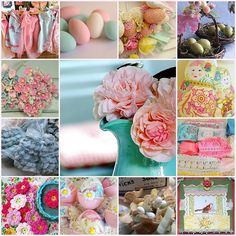 Easter party ideas! Love the vintage looking pastels!
