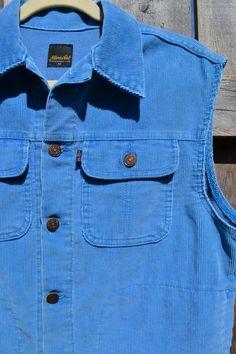 Vintage 80's LEVIS UNICORN CORDUROY Vest / by BoltandArrowCo, $38.00
