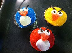 angry bird cupcake tutorial