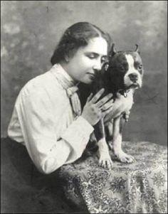 Helen Keller and her Pitbull