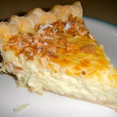 .♥ Coconut Custard Pie